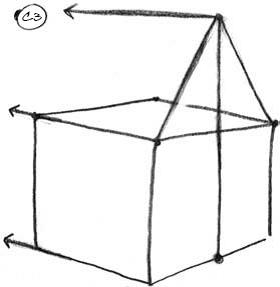 Как нарисовать домик 5.1