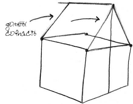 Как нарисовать домик 6