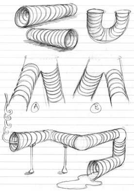 контурные трубы 14