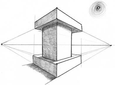 Башня в двухракурсной перспективе мини
