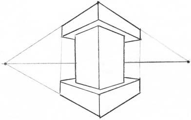 Башня в двухракурсной перспективе 10