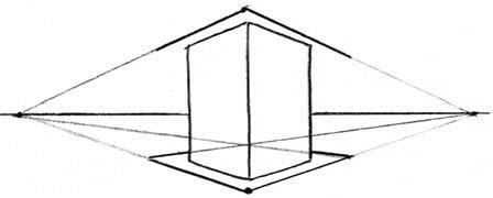 Башня в двухракурсной перспективе 8
