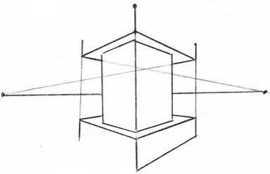 Башня в двухракурсной перспективе 9