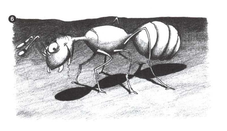 Как нарисовать муравейник карандашом поэтапно