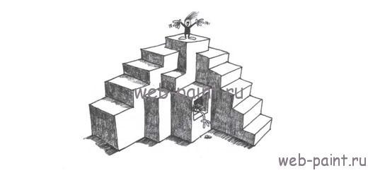 рисуем лестницу мини