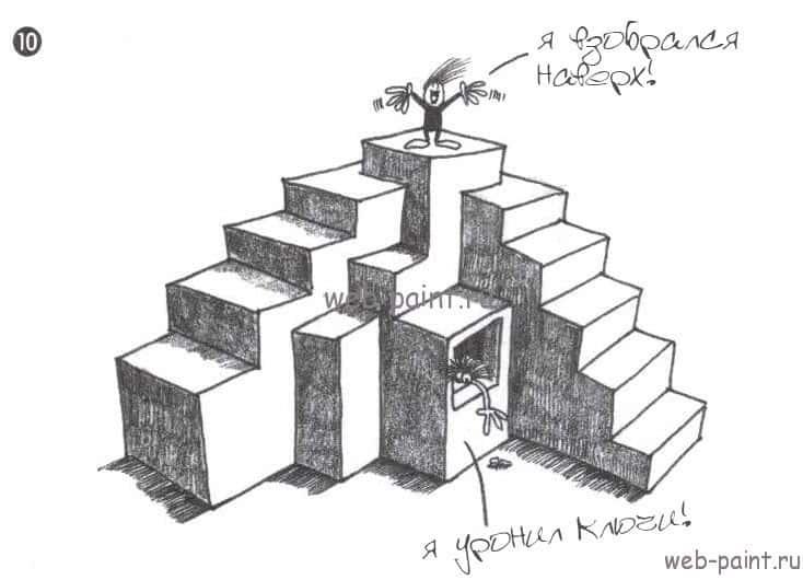 как нарисовать лестницу 3д
