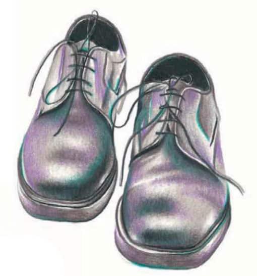 Мужские туфли рисуем 148