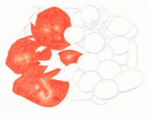 как-нарисовать-натюрморт-с-фруктами-цветными-карандашами6