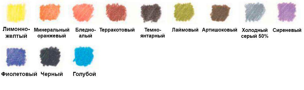 как-нарисовать-ромашку-цветными-карандашами-палитра
