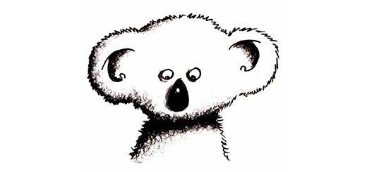 Как нарисовать коалу карандашом поэтапно