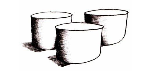 Как нарисовать цилиндр карандашом поэтапно