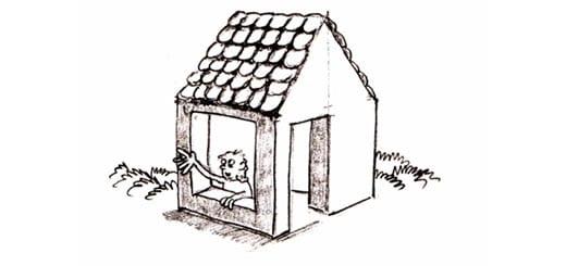 Как нарисовать домик для начинающих