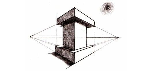 Угловая перспектива на примере башни