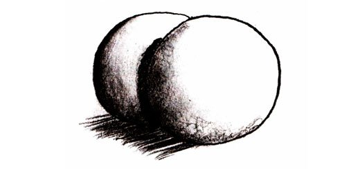Как нарисовать перекрывающиеся сферы