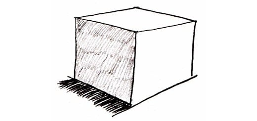 Как нарисовать трехмерный куб карандашом