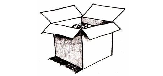 Как нарисовать полые кубы карандашом поэтапно