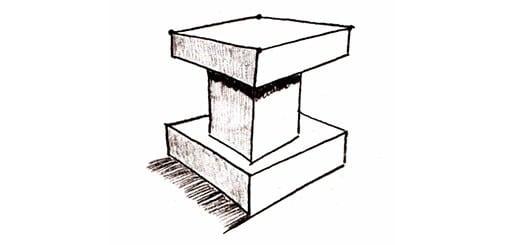 Полезное упражнение для рисования. Столик из кубиков