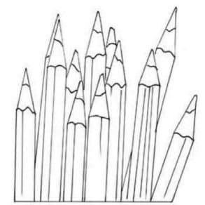 как-нарисовать-карандаши