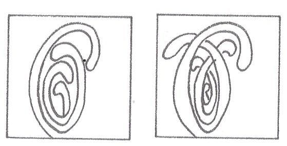 «Мука» — забавный и интересный узор. Он показывает, насколько красивым может быть рисунок, созданный одной линией.