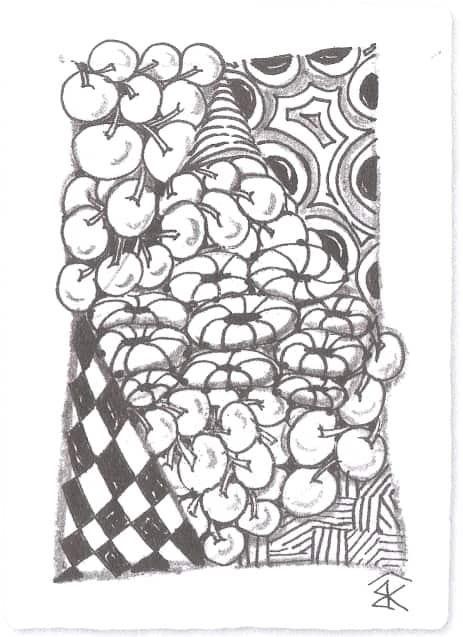 Пример художественной карточки с бликами.