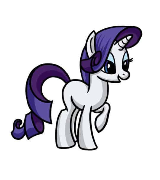 Как нарисовать пони Rarity (из м/ф Дружба - это чудо ... Как Нарисовать Пони Дружба это Чудо Поэтапно