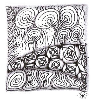 Композиция в этом рисунке была завершена, когда я добавила «Коралл» слева и «Мест» (Msst) сверху.