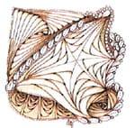 Насыщенный цвет сепии в сочетании с растительными узорами, использованными в рисунке, теплый и манящий.