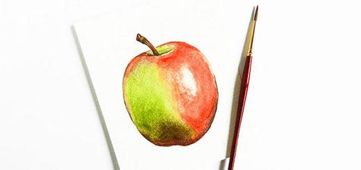 как-нарисовать-яблоко-мини