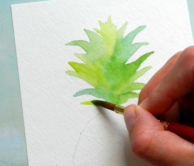 как нарисовать ананас (3)