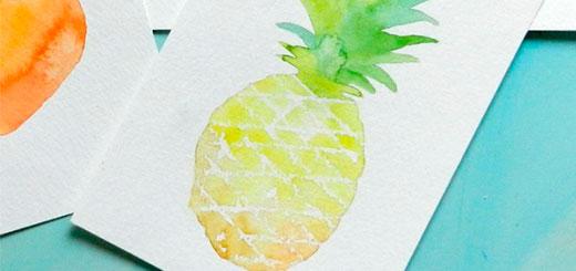 как нарисовать ананас (6)