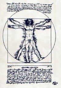 рисунок-Леонардо-на-основе-Витрувия