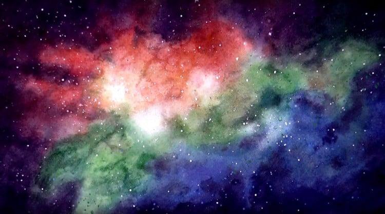как нарисовать космос