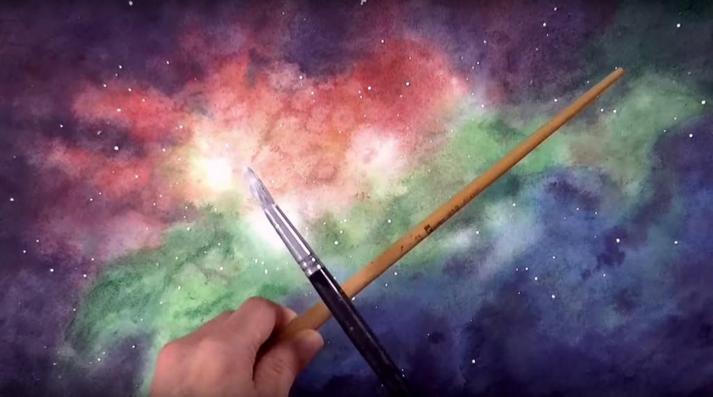 как нарисовать галактику