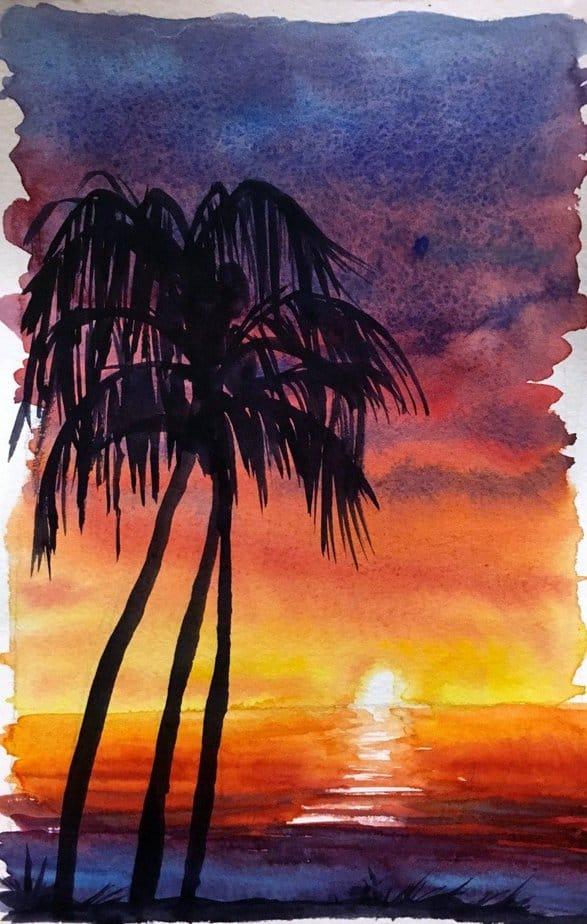как нарисовать закат (1)