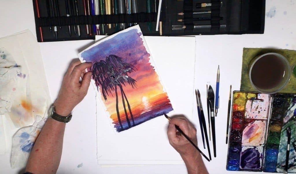 как нарисовать закат (12)