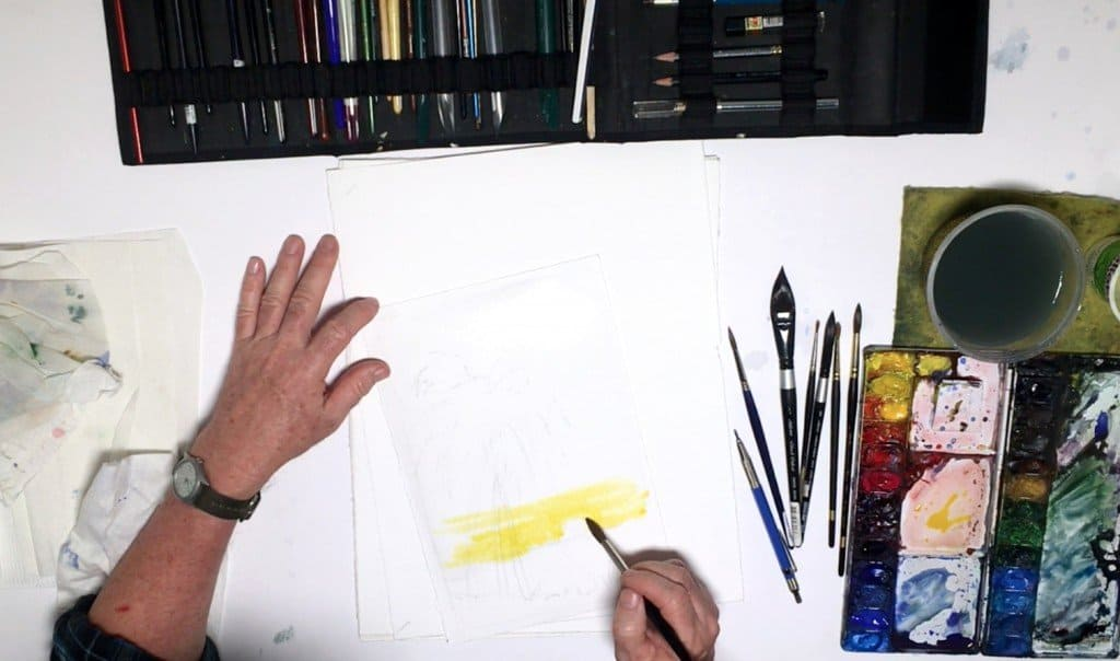 как нарисовать закат (3)