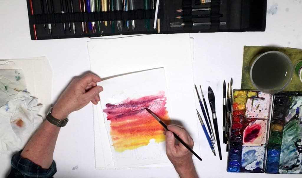 как нарисовать закат (5)