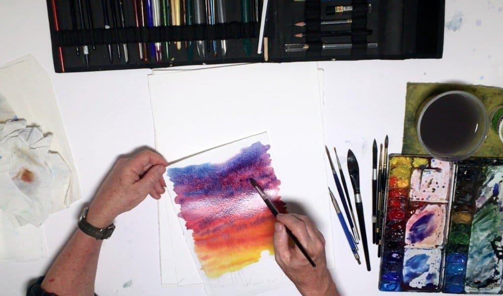 как нарисовать закат (6)