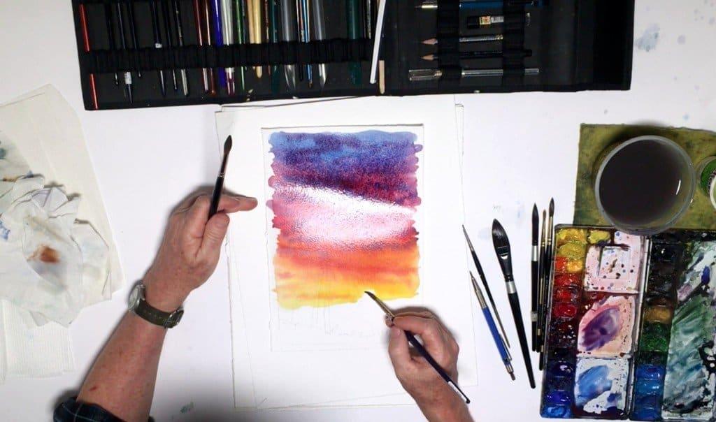 как нарисовать закат (7)