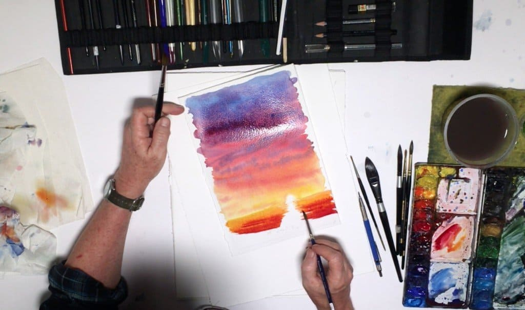 как нарисовать закат (9)