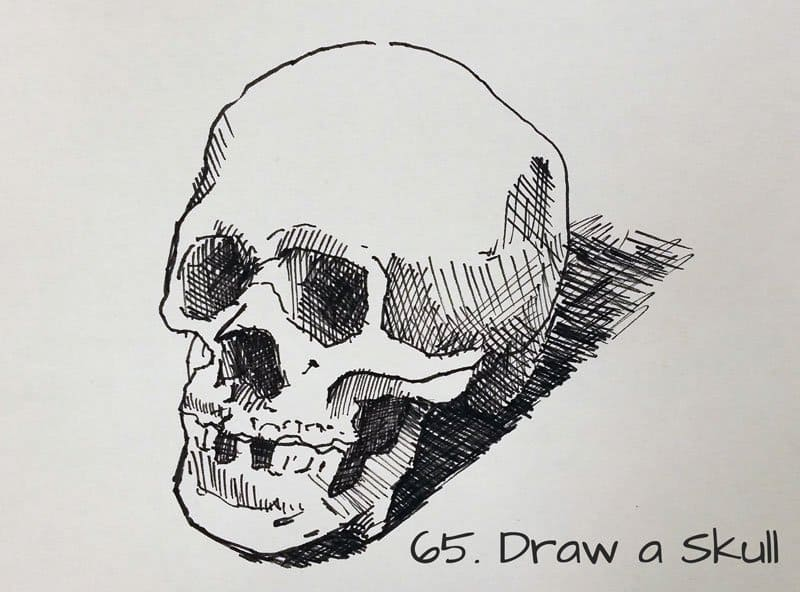 drawingideaskull