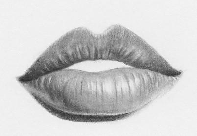 как рисовать губы карандашом