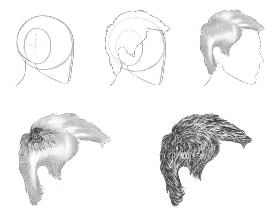 DOS amp DONTS How to Draw Realistic Hair  Step by Step Drawing Tutorial