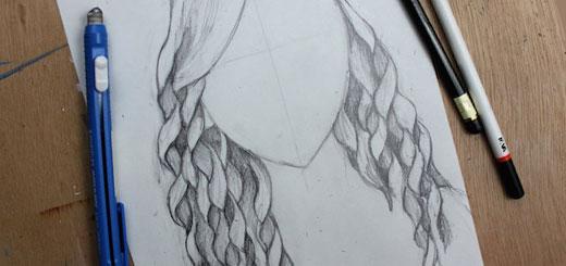 Як намалювати кучеряве волосся: простий спосіб - уроки малювання