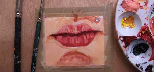 Як намалювати губи в кольорі: корисні поради з малювання акриловими фарбами - уроки малювання