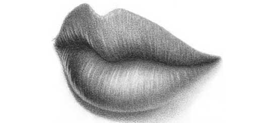 Як намалювати губи олівцем у перспективі ? - уроки малювання