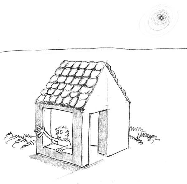 Как нарисовать домик мини