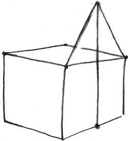 Как нарисовать домик 4