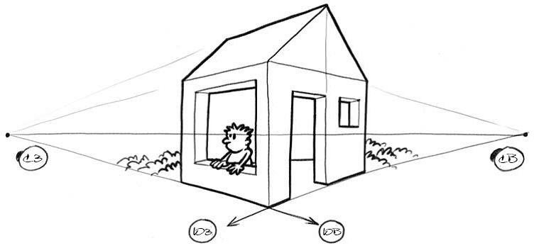 Как нарисовать домик 6.1