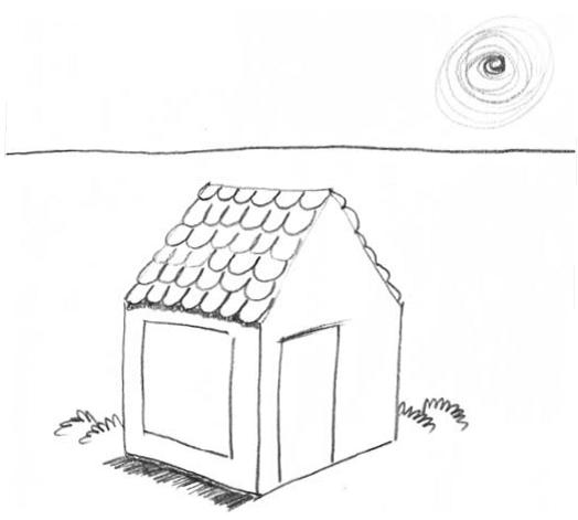 Как нарисовать домик 9